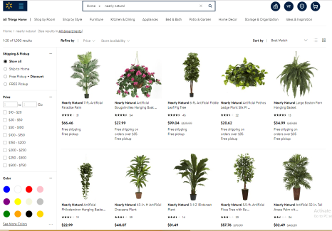 """Go search """"Nearly Natural plants"""" and so many options will pop up"""
